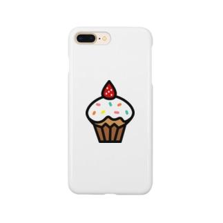 イチゴのカップケーキ Smartphone cases
