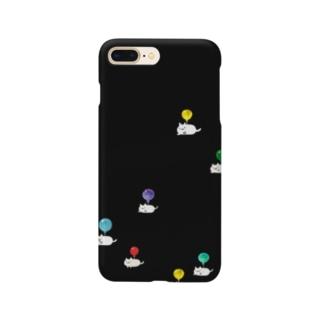 とぶねこ①ロゴなし Smartphone cases