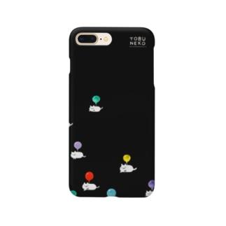 とぶねこ②ロゴあり Smartphone cases