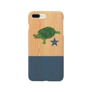 Love Turtle TypeA ネイビー Woody Smartphone cases