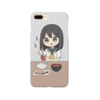 納豆かき混ぜガール Smartphone cases
