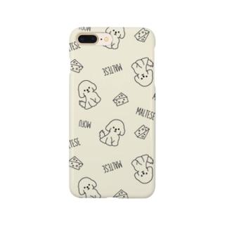 もふもふマルチーズ(イエロー) Smartphone cases