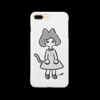 magoのねこさん's(モノクロ) Smartphone cases