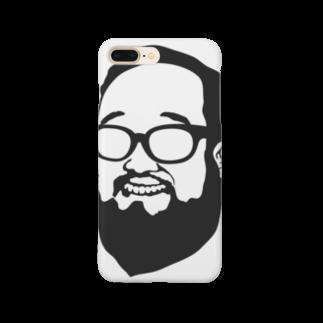 aubergのShacho logo black Smartphone cases
