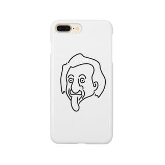アインシュタイン Einstein イラスト 理論物理学 哲学者 偉人アート Smartphone cases