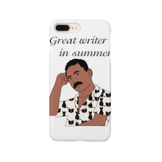 夏の文豪 Smartphone cases