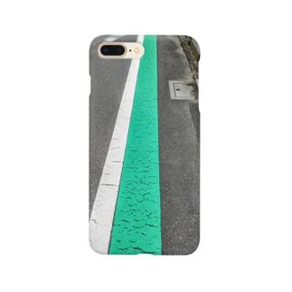 歩行者用グリーンベルト Smartphone cases