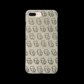 筆文字アートよっち庵のたくさんわんこ Smartphone cases