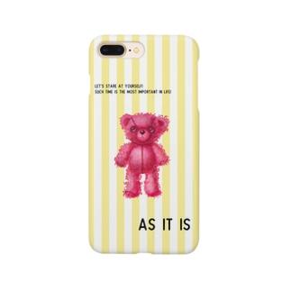 【As it is】(桃くま)iPhone 6,6s/6-6sPlus/7,8/7-8Plus用 Smartphone cases