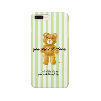 【you are not alone.】(茶くま)iPhone 6,6s/6-6sPlus/7,8/7-8Plus/XS/X/XR/XSMax用 Smartphone cases