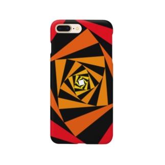 スパイラルかざぐるま(カラーA) Smartphone cases