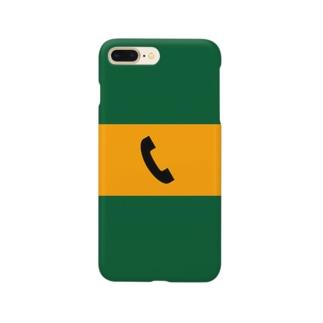 沿線電話(黒-電話マーク)  Smartphone cases