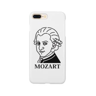 モーツアルト Mozart イラスト 音楽家 偉人アート モーツァルト ストリートファッション Smartphone cases