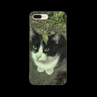 KeePeaceの枯葉をのっけた猫 Smartphone cases
