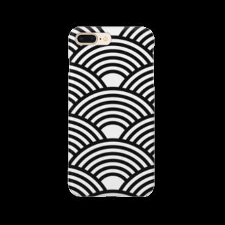 kagura9のSEIGAIHA01(モノクロ) Smartphone cases