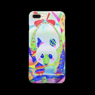 shu-shuの水彩イラスト パンダ Smartphone cases