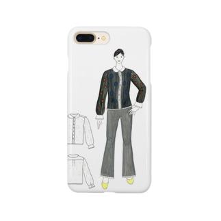 レトロ孔雀ブラウス Smartphone cases