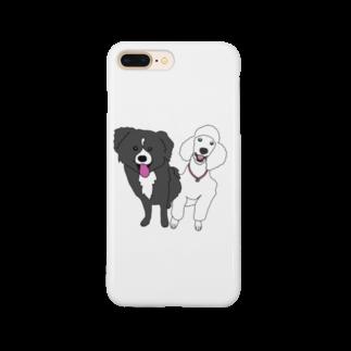 PetTeeのまりんちゃんレモンくん Smartphone cases