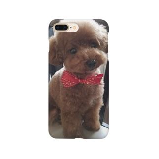 コロ。COLOM.犬いぬdogリボングッズ.のトイプードル【アンジー犬】#55 Smartphone cases