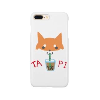 タピ柴さん(赤柴) Smartphone cases