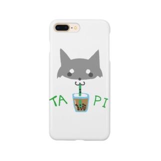 タピ柴さん(黒柴) Smartphone cases