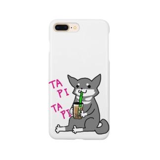 タピタピ柴さん(黒柴) Smartphone cases