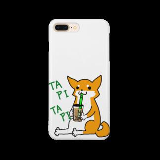 浅木愁太@LINEスタンプ販売中のタピタピ柴さん(赤柴) Smartphone cases