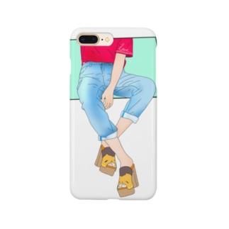 すわってみる Smartphone cases