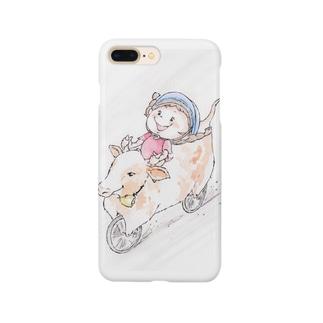 動物好きの花ちゃん Smartphone cases