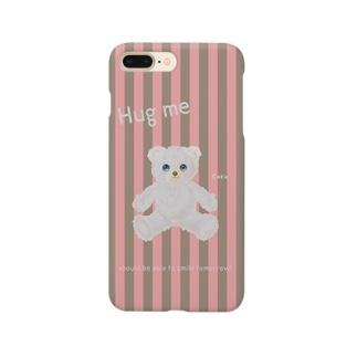 【Hug me】(白くま)iPhone 6,6s/6-6sPlus/7,8/7-8Plus用 Smartphone cases