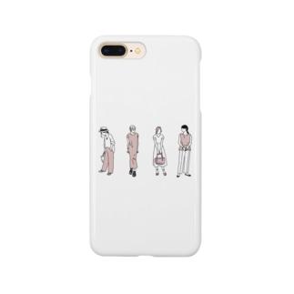 ゴンのファッションスナップ・ガール01ピンク Smartphone cases