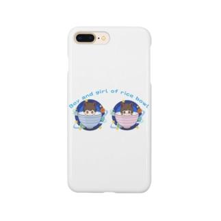 御飯茶碗の男の子and女の子NO1 Smartphone cases