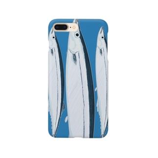 秋刀魚さんiphoneケース Smartphone cases