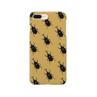 カブトムシ柄のiphoneケース Smartphone cases