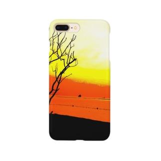 静かな朝が、綺麗に染まる。 Smartphone cases