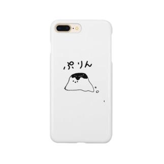 白黒プリンちゃん Smartphone cases