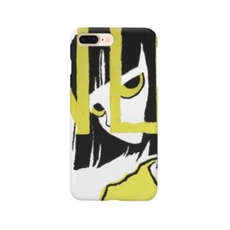 にらみつける女の子 Smartphone cases