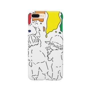 人生は色とりどりなんよ Smartphone cases