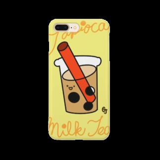 gajigajilandのタピオカミルクティー Smartphone cases
