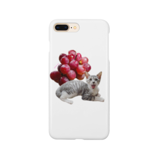保護猫カフェ「駒猫」さん家のNo.3 ぶどうくん♪ Smartphone cases
