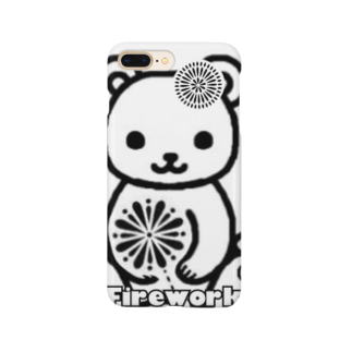 chamannuの花火くまちゃん(Firework Bear) Smartphone cases