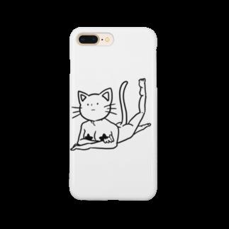 豆つぶのセクシー猫 Smartphone cases