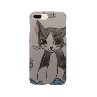 絵描きのまゆんのデザインのcatみーたんシリーズ Smartphone cases