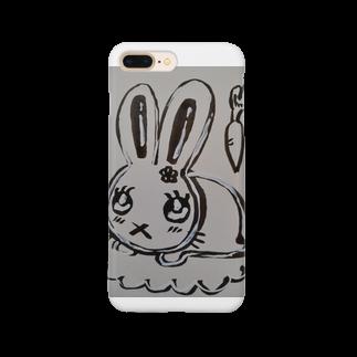 絵描きのまゆんのデザインのうさこちゃん Smartphone cases