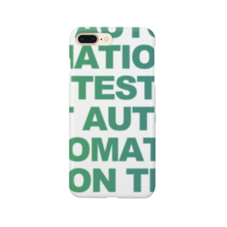 TEST AUTOMATION(大) 緑青 Smartphone cases