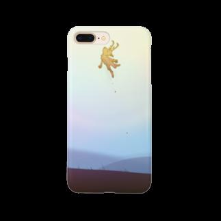 WaxTerKの商品棚の跳ぶシカ Smartphone cases