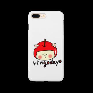 まめ@ゆるふわおもろ発見隊のりんごだよ Smartphone cases