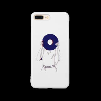 art_posca_drawingのレコード好きなあの子 Smartphone cases
