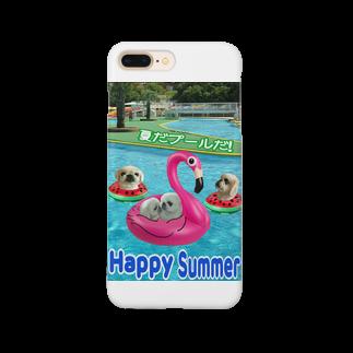 みにゃのペキッコ倶楽部(夏だプールだ) Smartphone cases