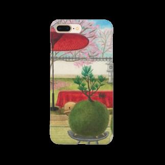ひつじ好きの未草のギャラリーの春信の苔玉ひつじ Smartphone cases